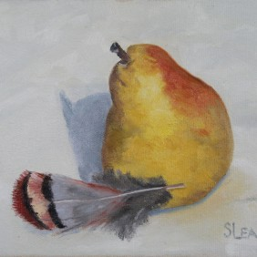 Pear and Chukar Feather