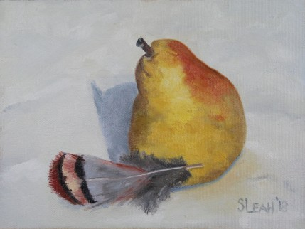 Pear and Chuckar Feather